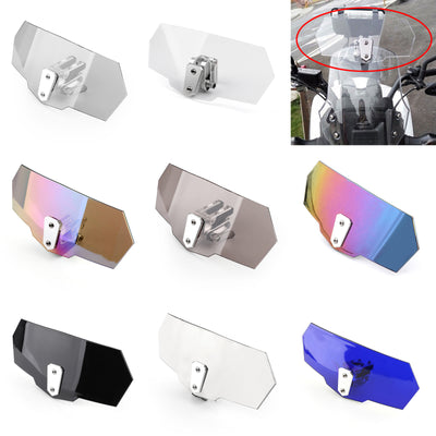 Universal Adjustable Windshield Screen Extension Deflector For Honda Yamaha