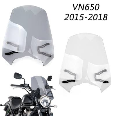 Windscreen Windshield Screen w/Bracket For 2015-2018 Kawasaki Vulcan S EN 650