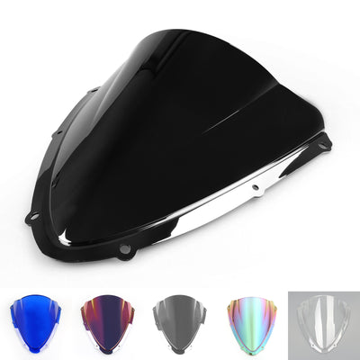 Windshield WindScreen Double Bubble For Suzuki GSXR600750 2008-2009 K8 Black