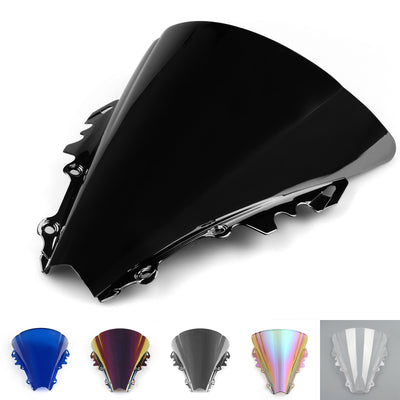 Windshield Windscreen Double Bubble For Yamaha YZF R6 6 26-27 Black