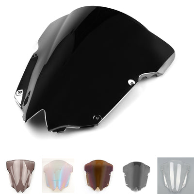Windshield Windscreen Double Bubble For Yamaha YZF R6 6 28-215 Black
