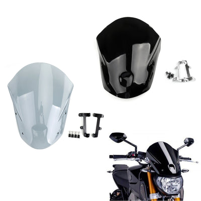 Windshield WindScreen + Bolts Bracket For Yamaha MT-09 FZ-09 2014-2015 Black