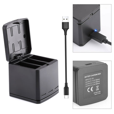 3 Slot Battery Charging Box Battery Storage Case for GoPro Hero 5 Hero 6/7 Black