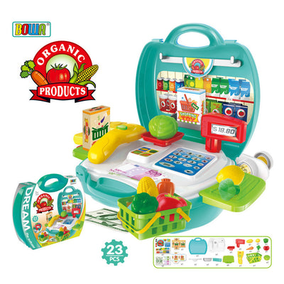 Supermarket Toys Pretend Play Set Kids Children Role Play Tools