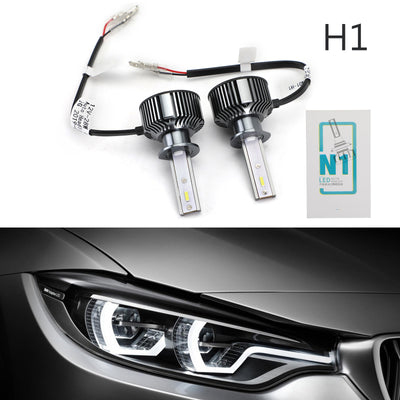 Pair H1 12V26W 5500K Car LED Auto Headlight Front Fog Light Lamp Bulb