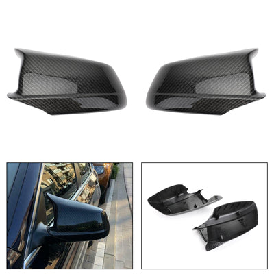 Door Side Wing Mirror Cover Cap Carbon For BMW 5Series F10/F11/F18 Pre-LCI 11-13