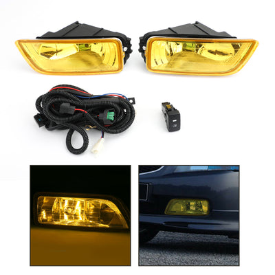 Yellow Lens Fog Lights + Switch For 2003-2007 Honda Accord / 2004-2008 Acura TL