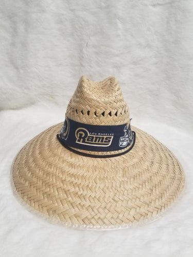 fan straw hat - rams