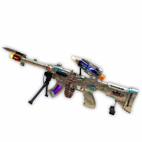 gold machine led gun toy