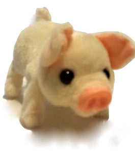 Battery operated walking pet pig toy
