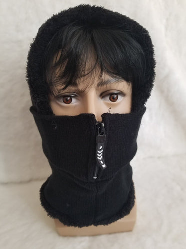 unisex winter hat snow ski zipper mask