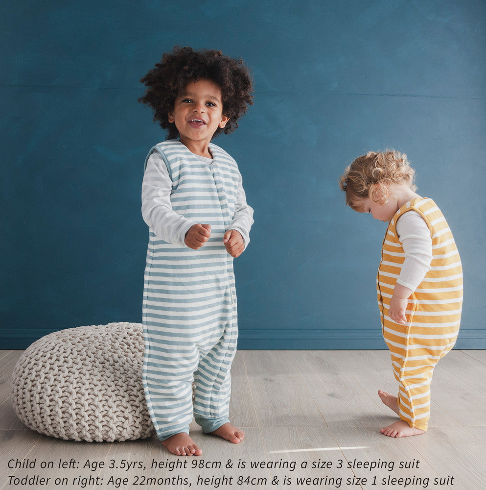 Woolbabe Duvet Sleeping Suit - Tide