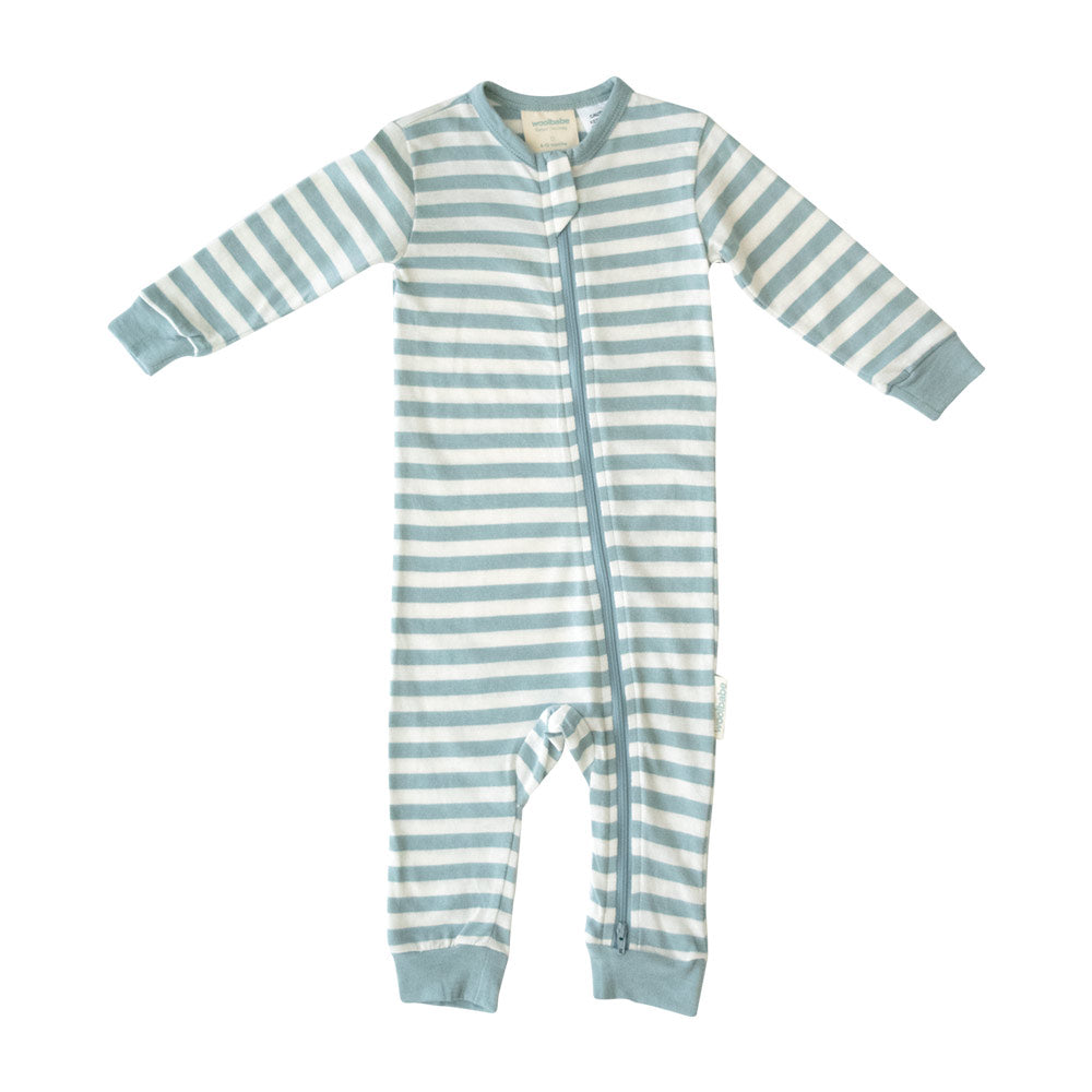 Woolbabe Merino/Organic Cotton PJ Suit - Tide
