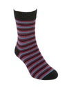 Lothlorian Possum Merino Socks Multi Stripe