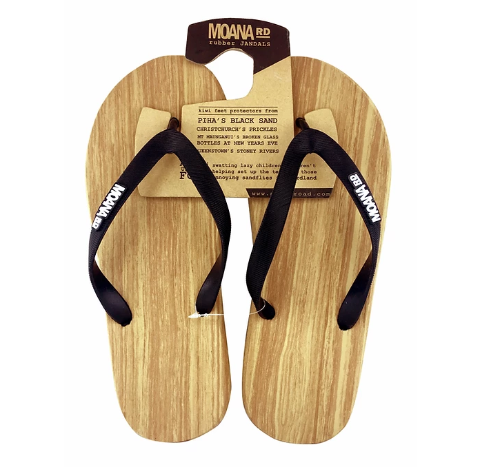 Moana Road Wooden Look Jandals
