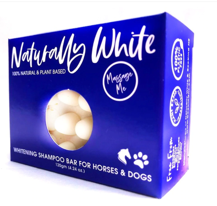 Bee Kind Naturally White - Whitening Shampoo Massage Bar for Horses & Dogs