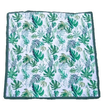 Little Unicorn - Outdoor Blanket 5 x 5 - Tropical Leaf