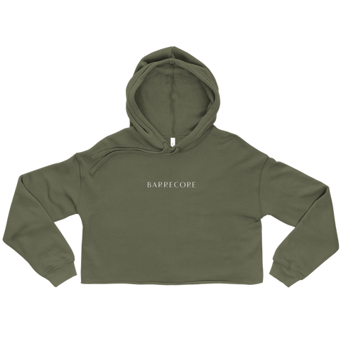 Barrecore Crop Hoodie - Black/Olive/Peach - Women's sizing