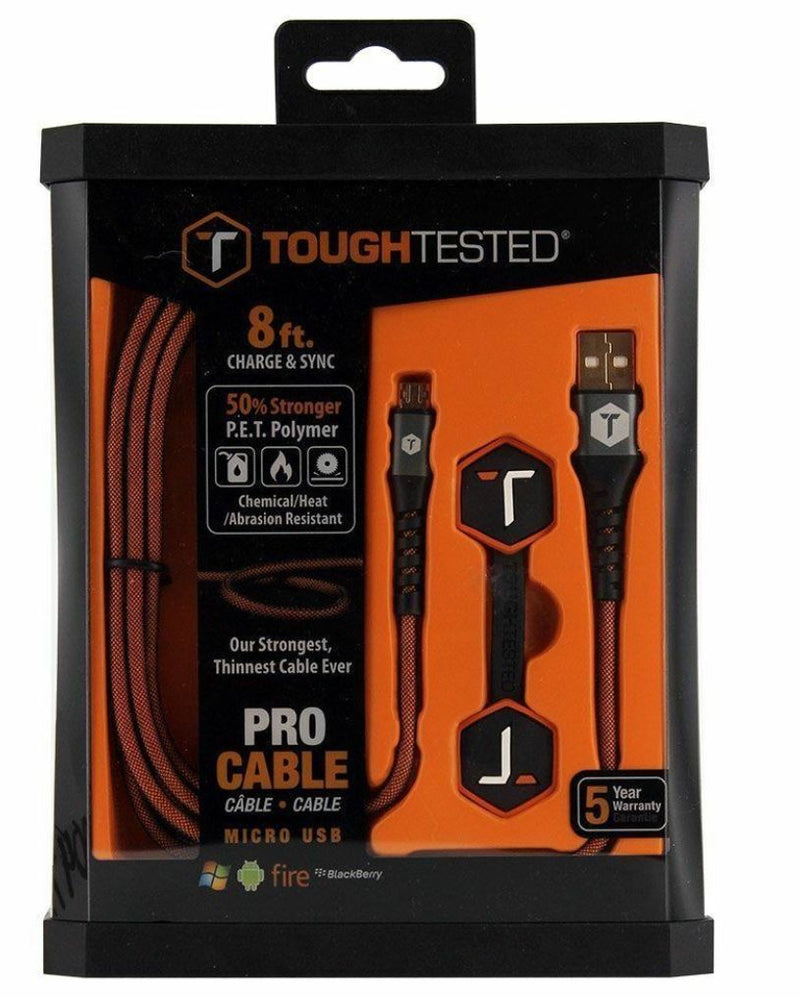Tough Tested  Pro Cable Charging iPhone/Micro USB