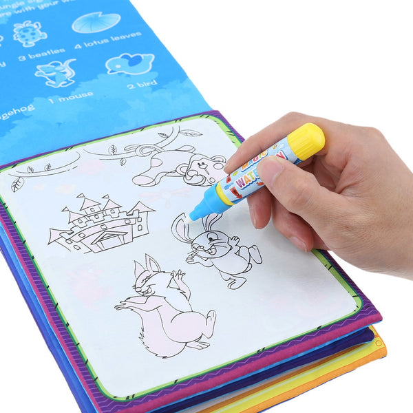 Kids Magic Water Drawing Book With 2 Pens - KidzCastlez