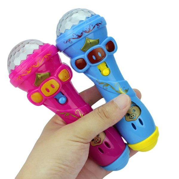 LED Projection Microphone Flash Microphone Light Toys - KidzCastlez