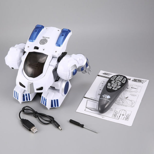 K4 Intelligent Fingerprint Deformation Police RC Robot - KidzCastlez