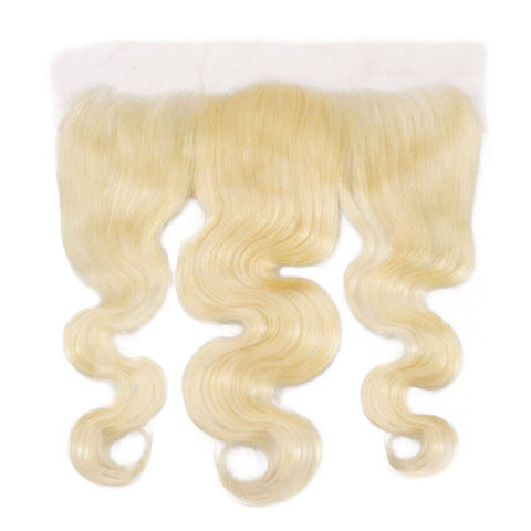 Virgin Platinum Russian Blonde Body Wave Lace Frontal
