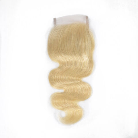 Virgin Platinum Russian Blonde Body Wave Lace Closure