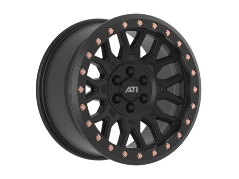 AT-01 17X8.5 HYBRID BEADLOCK WHEEL - BLACK (6X139.7)