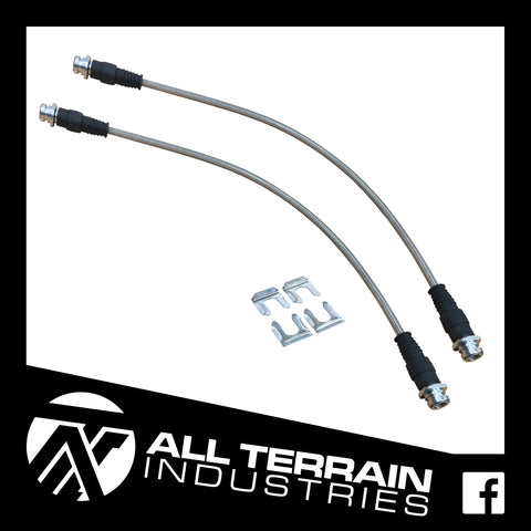 ATI EXTENDED BRAIDED BRAKE LINES - REAR - NISSAN NAVARA D40 D23 NP300