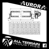 "AURORA 20"" DOUBLE ROW LED LIGHT BAR"