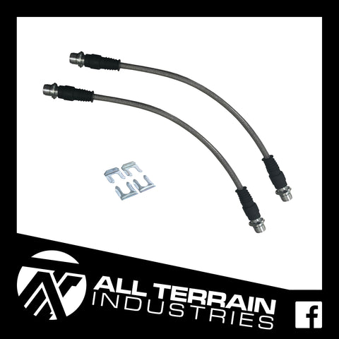 ATI EXTENDED BRAIDED BRAKE LINES - FRONT - TOYOTA N70 HILUX