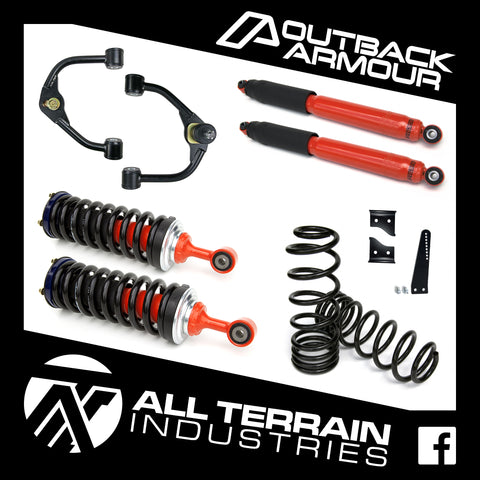"OUTBACK ARMOUR 3"" FRONT/2"" REAR LIFT KIT - LONG TRAVEL - NISSAN D23/NP300 NAVARA (COIL REAR)"