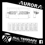 "AURORA 40"" SINGLE ROW LED LIGHT BAR"