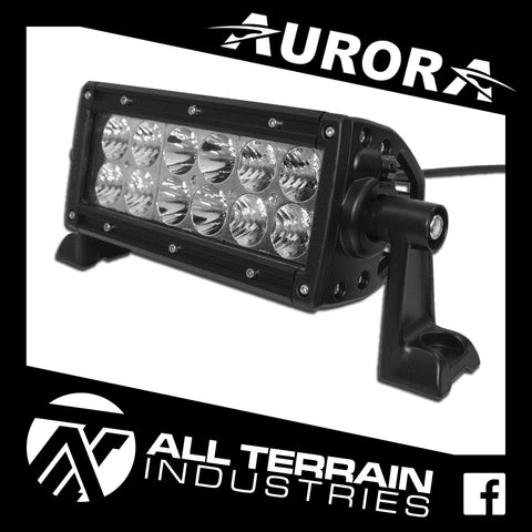 "AURORA 6"" DOUBLE ROW LED LIGHT BAR"