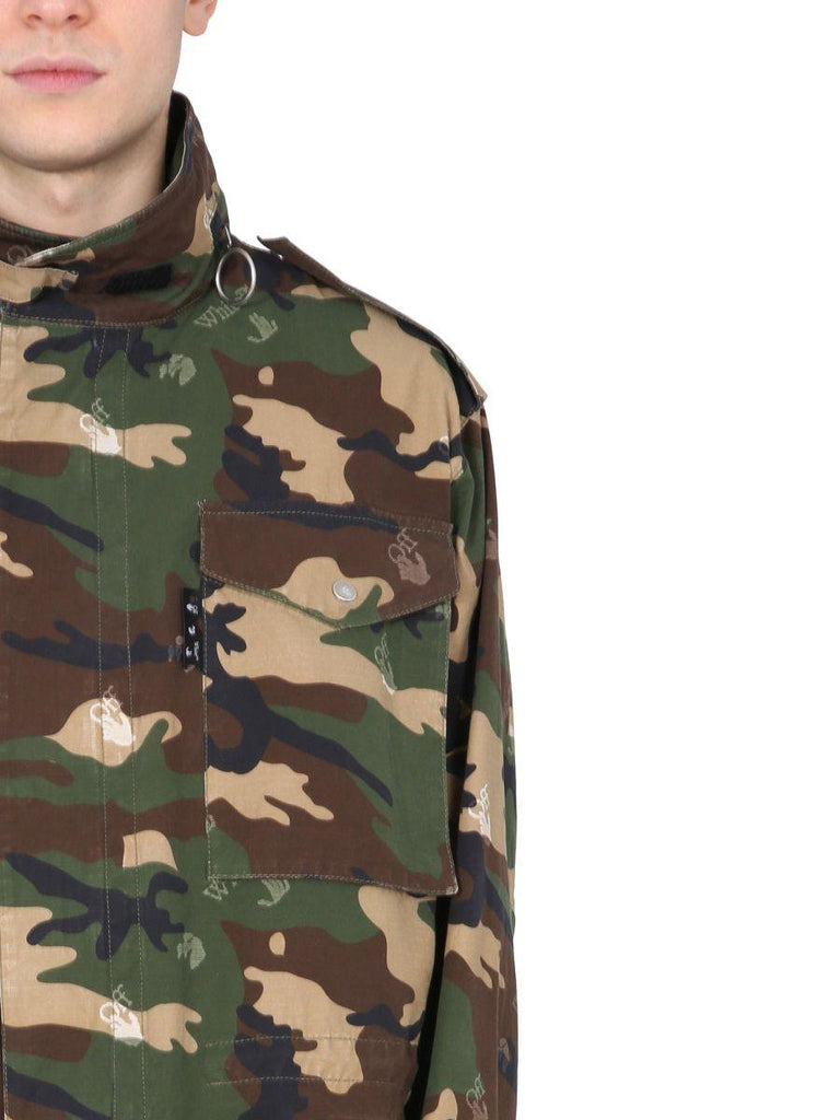 OFF-WHITE Cottons OFF-WHITE MEN'S GREEN OTHER MATERIALS OUTERWEAR JACKET