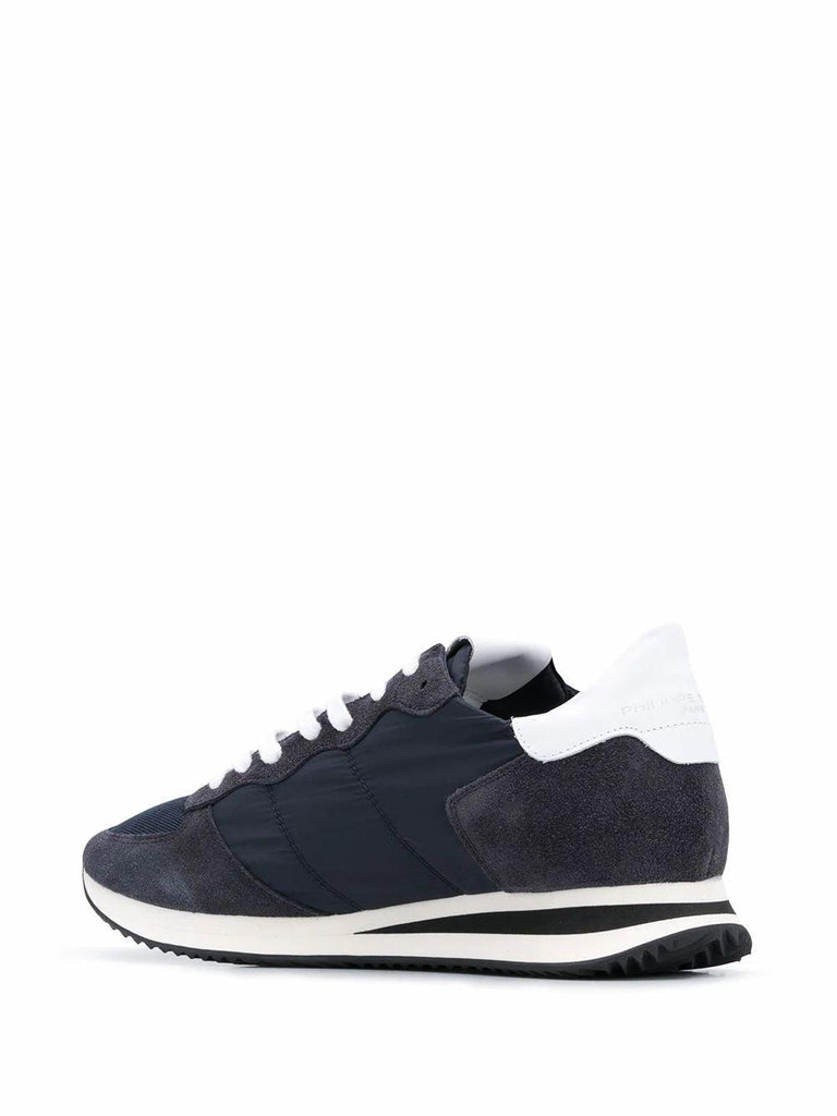 PHILIPPE MODEL Sneakers PHILIPPE MODEL MEN'S BLUE LEATHER SNEAKERS