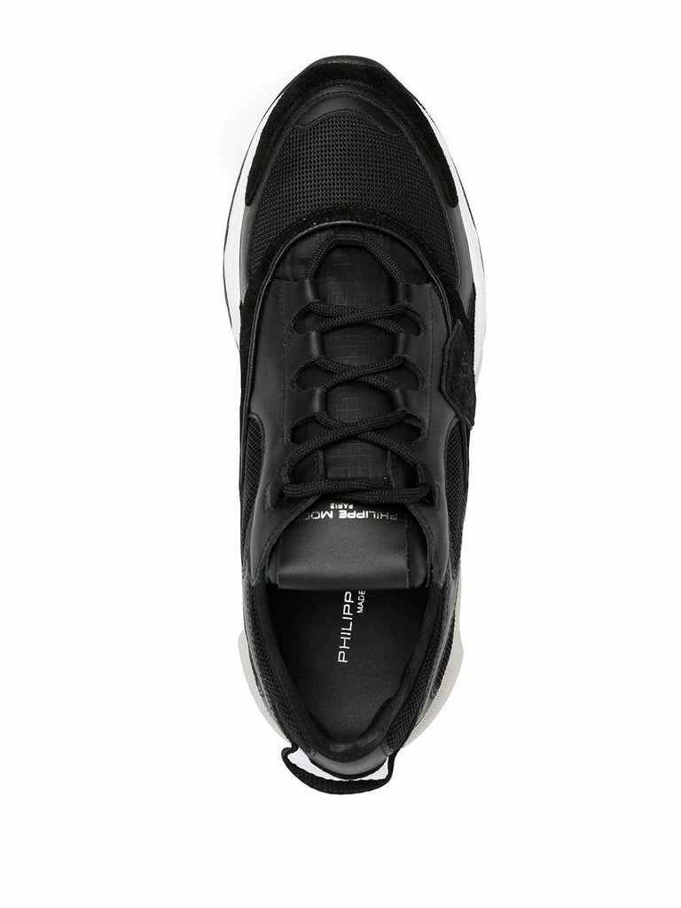 PHILIPPE MODEL Leathers PHILIPPE MODEL MEN'S BLACK LEATHER SNEAKERS