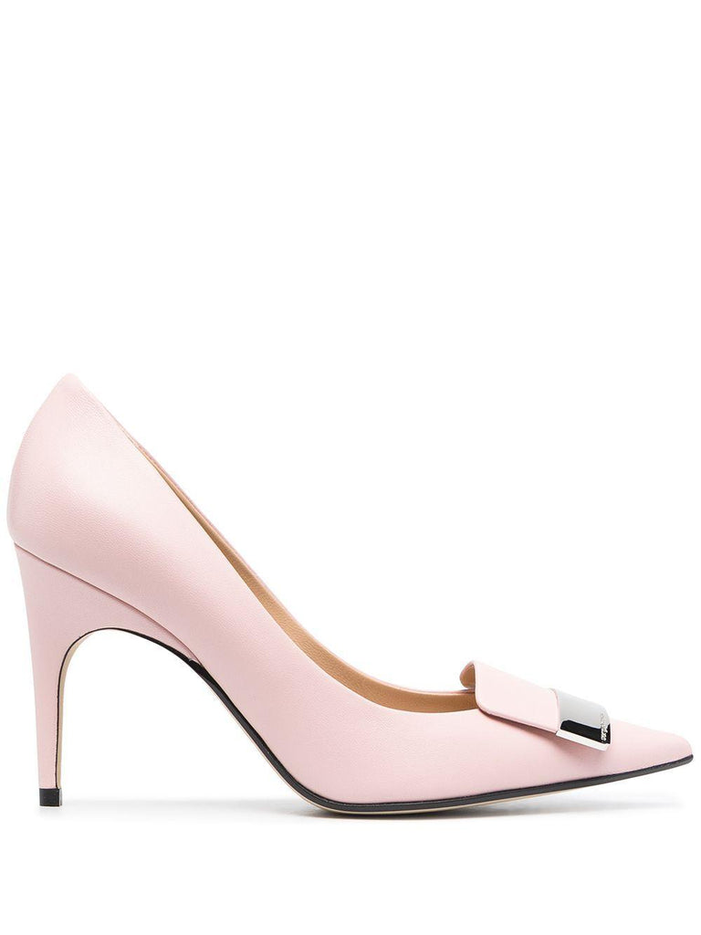 Sergio Rossi Leathers SERGIO ROSSI WOMEN'S PINK LEATHER PUMPS