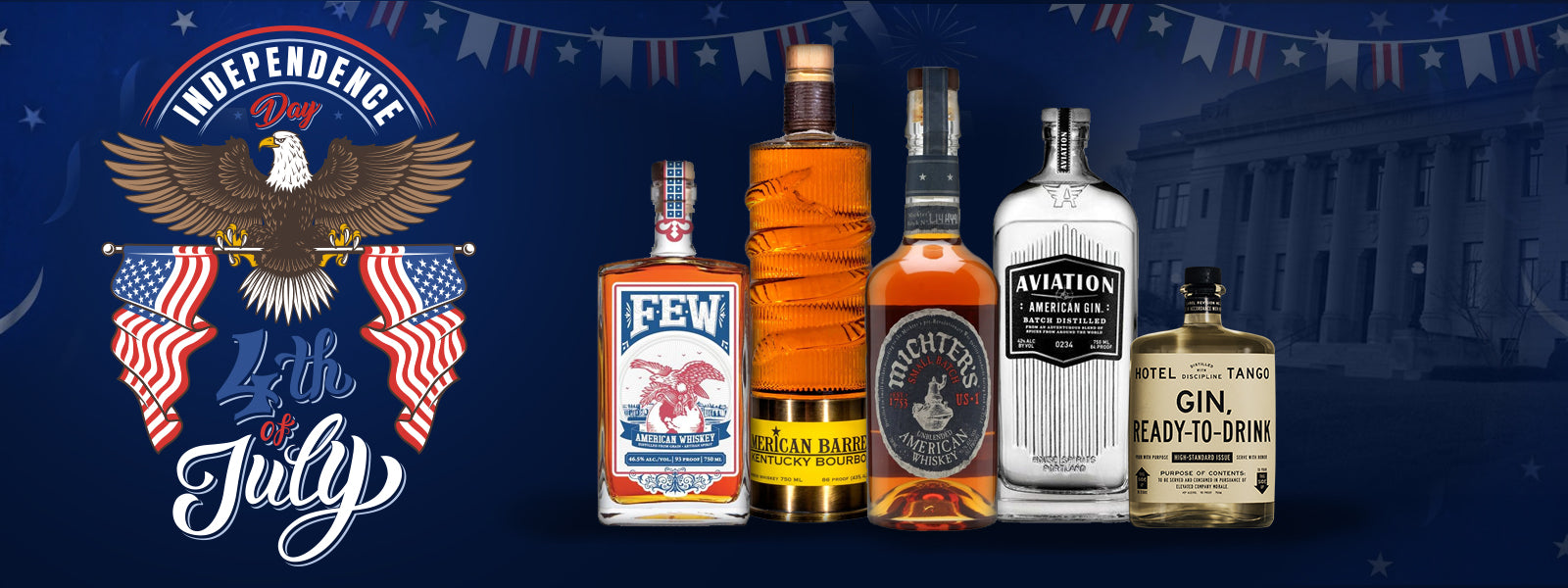 4th of July American Spirits, Whiskey, Bourbon, Tequila, Rum, Gin and Vodka Online at CaskCartel.com