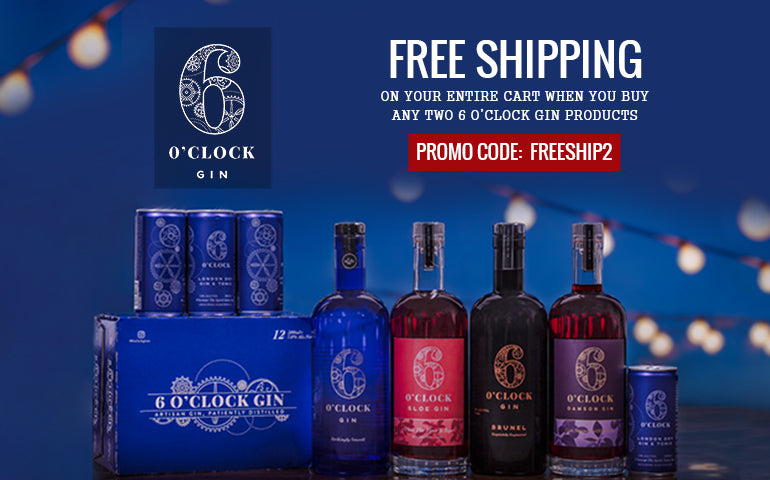 FREE SHIPPING When you Buy 6 Oclock Gin Online at CaskCartel.com