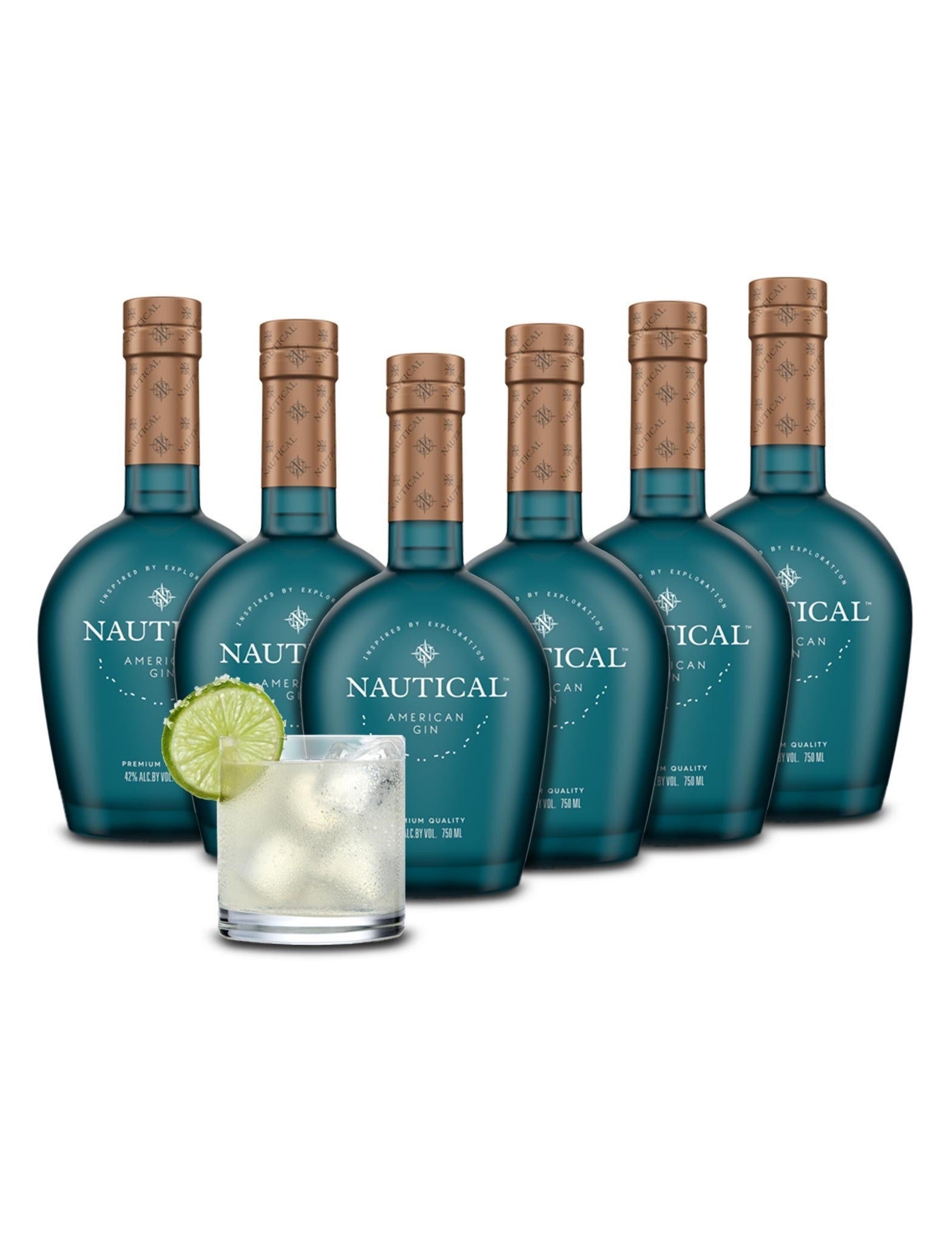 Nautical American Gin 6-Pack Case