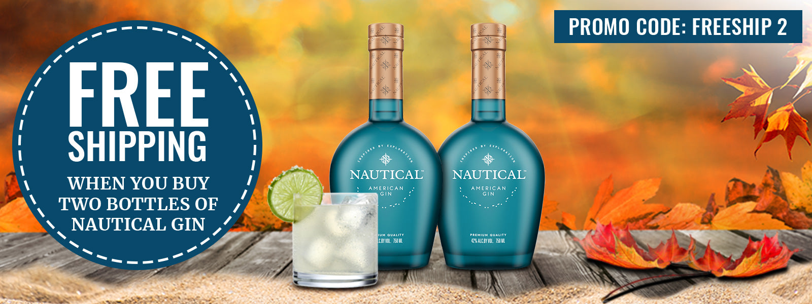 Buy Nautical American Gin Online at CaskCartel.com