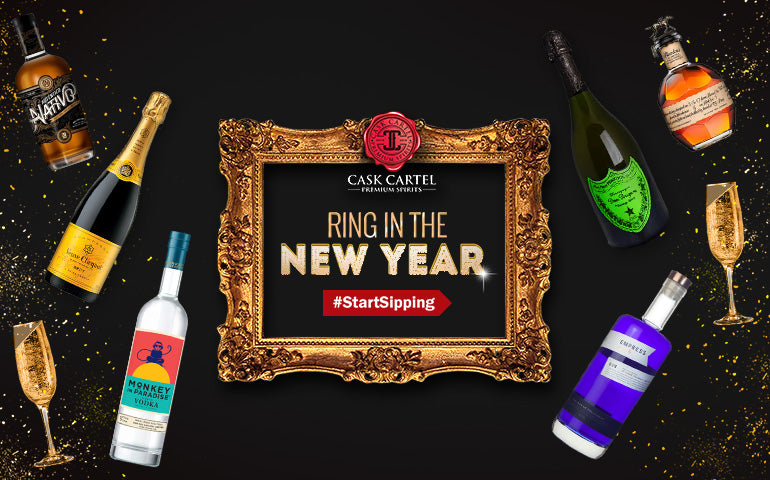 Buy Gin, Whiskey, Rum, Champagne, and Vodka Online for your New Years party at CaskCartel.com