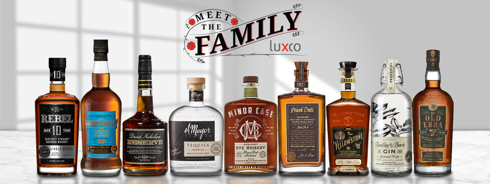Buy Luxco Spirits, Yellowstone, El Mayor, Rebell Yell, Bowling and Burch, Blood Oath, David Nicholson, Old Ezra, and Minor Case Whiskey Tequila and Gin Online at CaskCartel.com