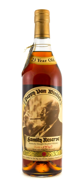Pappy Van Winkle 23 year Family Reserve Bourbon