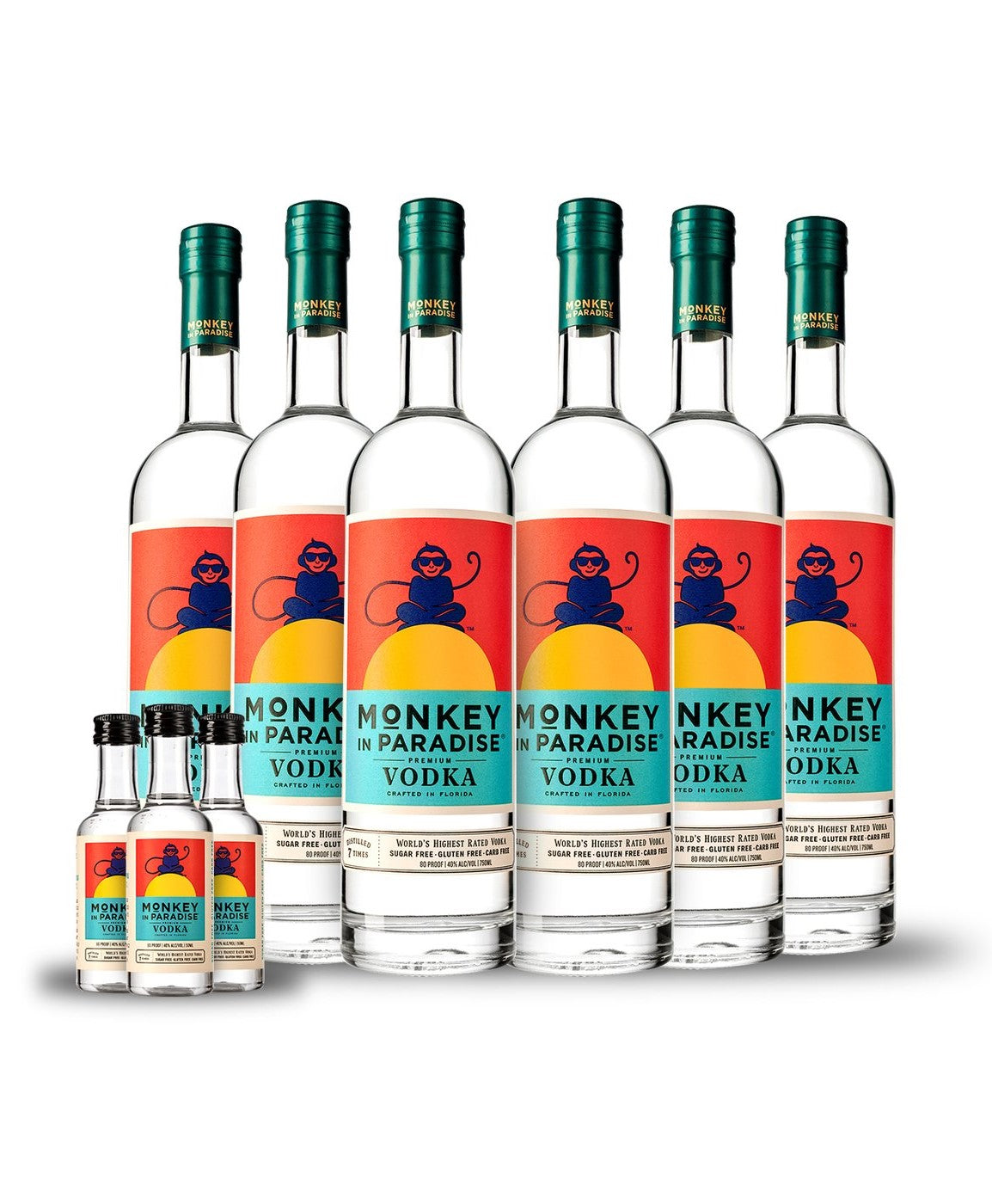 Monkey In Paradise Vodka 6-Pack Case