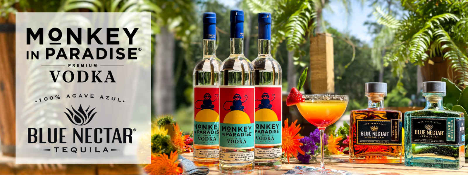 Buy Monkey and Paradise Vodka & Blue Nectar Tequila Online at CaskCartel.com