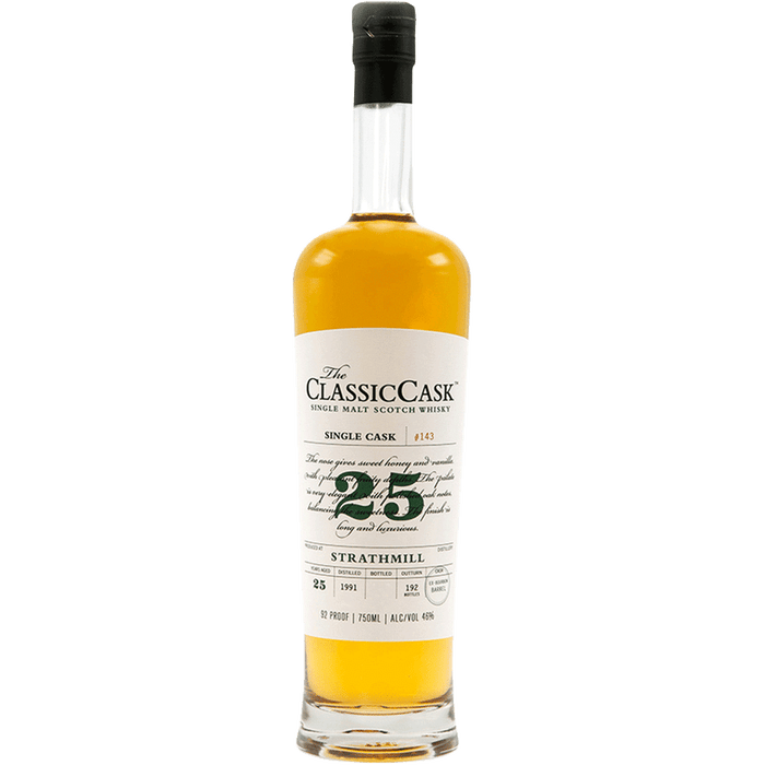 The Classic Cask Strathmill 25 Year Old Single Malt Scotch Whisky