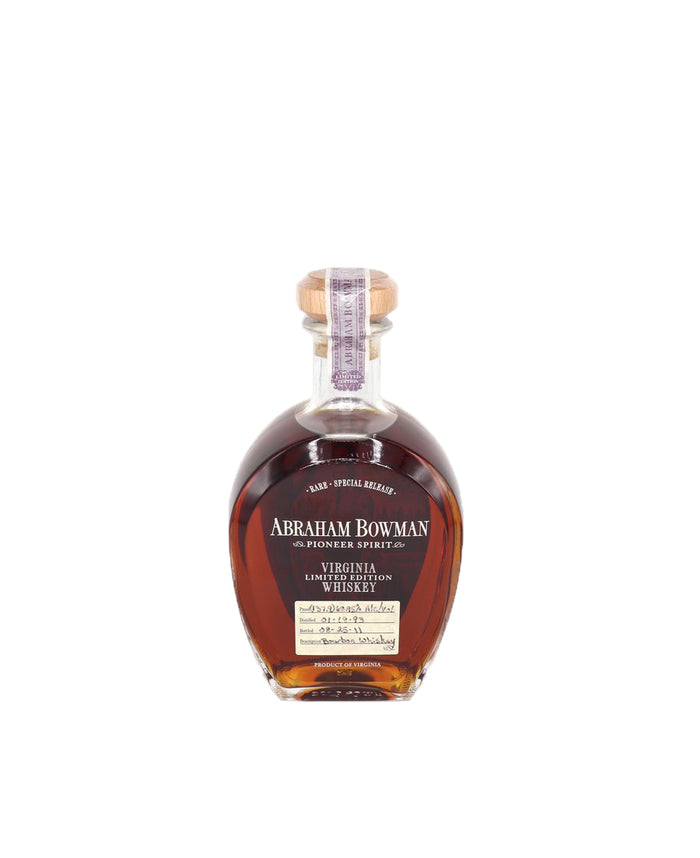 Abraham Bowman Pioneer Spirit Virginia Limited Edition 18 Year Old Bourbon Whiskey